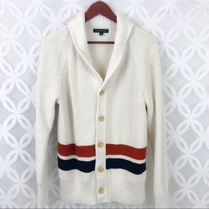 Banana Republic Striped Button Down Sweater